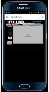 The Club Website Mobile Display - Before
